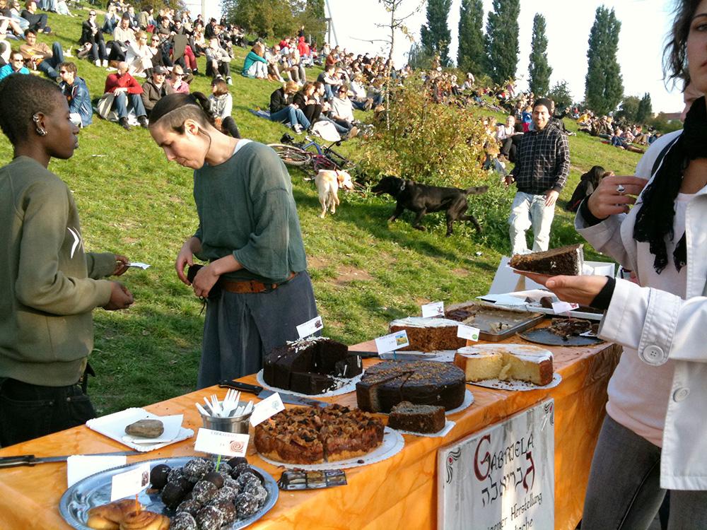 Tartas caseras en el Mauerpark